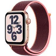 Apple Watch SE 44mm Cellular Zlatý hliník se švestkovým sportovním řemínkem