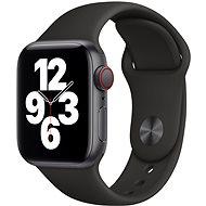 Apple Watch SE 44mm Cellular Vesmírně černý hliník s černým sportovním řemínkem