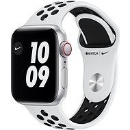 Apple Watch Nike SE 44mm Cellular Stříbrný hliník s platinovým/černým sportovním řemínkem Nike - Chytré hodinky