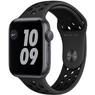Apple Watch Nike SE 44mm Vesmírně šedý hliník s antracitovým/černým sportovním řemínkem Nike - Chytré hodinky