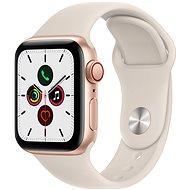 Apple Watch SE 40mm Cellular Zlatý hliník s hvězdně bílým sportovním řemínkem