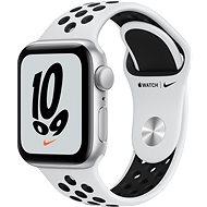 Apple Watch Nike SE 40mm Stříbrný hliník s platinovým/černým sportovním řemínkem Nike