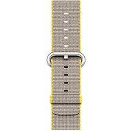 Apple 38mm Žlutý/ světle šedý z tkaného nylonu - Řemínek