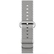 Apple 38mm Bílý z tkaného nylonu (prošívání) - Řemínek