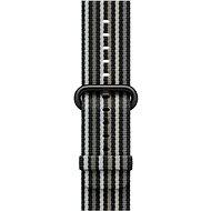 Apple 38mm Černý z tkaného nylonu (proužky) - Řemínek