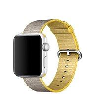 Apple 42mm Žlutý/ světle šedý z tkaného nylonu - Řemínek