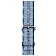 Apple 42mm Půlnočně modrý z tkaného nylonu (proužky) - Řemínek