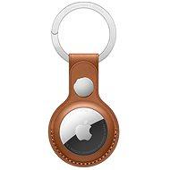 Apple AirTag kožená klíčenka sedlově hnědá - AirTag klíčenka
