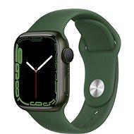 Apple Watch Series 7 41mm Zelený hliník s listově zeleným sportovním řemínkem - Chytré hodinky