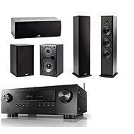 DENON AVR-S650H Black + Polk Audio T15 + T30 + T50 Speaker System - Home Cinema System