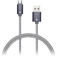 CONNECT IT Wirez Premium Metallic micro USB 1m silver grey - Datový kabel