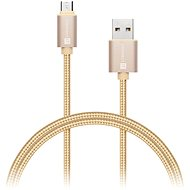 CONNECT IT Wirez Premium Metallic micro USB 1m gold - Datový kabel