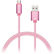 Datový kabel CONNECT IT Wirez Premium Metallic micro USB 1m rose