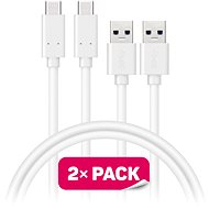 CONNECT IT Wirez USB-C 1m bílý, 2 ks - Datový kabel