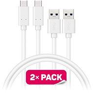 CONNECT IT Wirez USB-C 1m white, 2pcs - Data cable