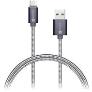 CONNECT IT Wirez Premium Metallic USB-C 1m silver grey - Datový kabel