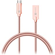 CONNECT IT Wirez Steel Knight Micro USB 1m, metallic rose-gold - Datový kabel