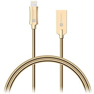 CONNECT IT Wirez Steel Knight Lightning Apple 1m, metallic gold - Datový kabel