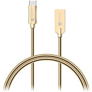 CONNECT IT Wirez Steel Knight USB-C 1m, metallic gold - Datový kabel