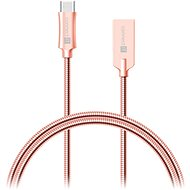 CONNECT IT Wirez Steel Knight USB-C 1m, metallic rose-gold - Datový kabel