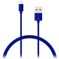 CONNECT IT Colorz Lightning Apple 1m modrý - Datový kabel