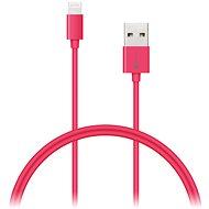 CONNECT IT Colorz Lightning Apple 1m růžový - Datový kabel
