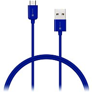 CONNECT IT Colorz Micro USB 1m modrý - Datový kabel
