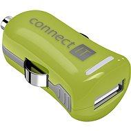 CONNECT IT InCarz Charger ONE 2.1A zelená (V2) - Nabíječka do auta