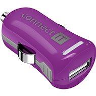 CONNECT IT InCarz Charger ONE 2.1A fialová (V2) - Nabíječka do auta