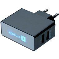 CONNECT IT CI-153 Dual Charger 230V černá - Nabíječka