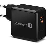 CONNECT IT InWallz QUALCOMM QUICK CHARGE 3.0 černá - Nabíječka