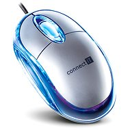CONNECT IT CI-64 Optical mouse stříbrná - Myš