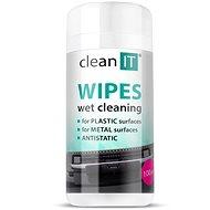 CLEAN IT Čisticí ubrousky mokré na plasty 100ks - Čisticí prostředek