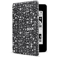 CONNECT IT CEB-1043-BK pro Amazon NEW Kindle Paperwhite 4 (2018), Doodle black - Pouzdro na čtečku knih