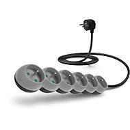 CONNECT IT prodlužovací 230V, 6 zásuvek, 2m, šedý - Napájecí kabel
