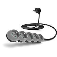 CONNECT IT prodlužovací 230 V, 5 zásuvek, 3m, šedý - Napájecí kabel