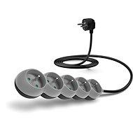 CONNECT IT prodlužovací 230 V, 5 zásuvek, 2m, šedý - Napájecí kabel