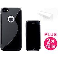 CONNECT IT S-Cover iPhone SE/5/5s černé - Ochranný kryt