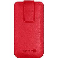 CONNECT IT U-COVER vel. S, červené - Pouzdro na mobilní telefon