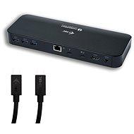 I-TEC Thunderbolt 3 Dual 4K dokovací stanice + USB-C na DP adaptér s kabelem 1,5 m, Power Delivery 8 - Dokovací stanice