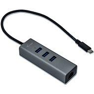I-TEC USB-C Metal 3-portový HUB s GLAN - USB Hub