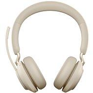Bezdrátová sluchátka Jabra Evolve2 65 MS Stereo USB-C Beige