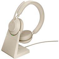 Jabra Evolve2 65 MS Stereo USB-A Stand Beige - Bezdrátová sluchátka