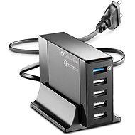 Cellularline Energy Station QC 5x USB, Qualcomm Quick Charge 3.0 max 50W černá - Nabíječka