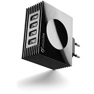 CellularLine Quad Ultra 4xUSB 21W/4.2 A max černá