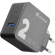 Cellularline Multipower 2 PRO+ s technologií Smartphone Detect USB-C + USB port 36W černá  - Nabíječka