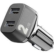 Cellularline Car Multipower 2 s technologií Smartphone Detect 2 x USB port 24W černá  - Nabíječka do auta