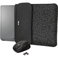 TRUST YVO MOUSE & SLEEVE F/15.6 – BLACK - Pouzdro na notebook