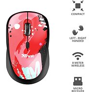 Trust Yvi Wireless Mouse Red Brush