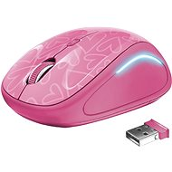Trust Yvi FX Wireless Mouse - pink - Myš